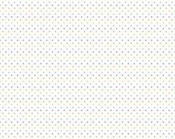 Riley Blake Designs, Swiss Dot On White Color Girl (C660 03)
