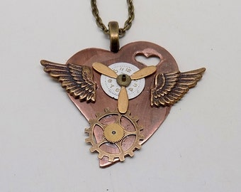 Steampunk jewelry. Steampunk necklace pendant