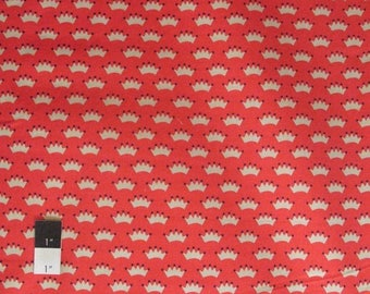 SALE Dear Stella Crowns Red Quilting Cotton Fabric By Yard