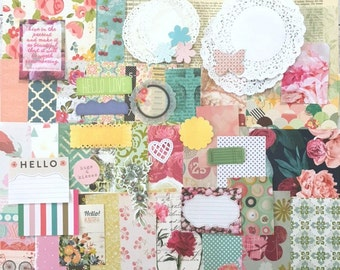 Vintage Floral, Scrapbook Paper and Ephemera Pack, Art Journal, Collage, Scrapbooking, Cards, Kids Craft