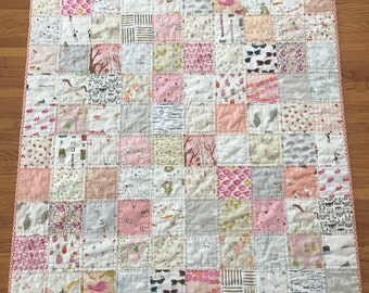 Baby Girl Quilt, ISpy quilt, I Spy Quilt, Baby Girl ISpy Quilt, Baby Girl I Spy Quilt, Toddler Girl Quilt, Toddler ISpy Quilt