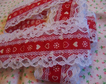hearts and lace trim