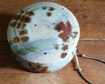 Vintage Pottery Trinket/Jewelry Box, Lidded