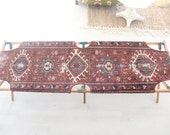 Army Cot with Oriental Rug Runner Seat