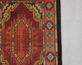 Moroccan Pink & Red Rug - 3.5 feet x 2.5 feet
