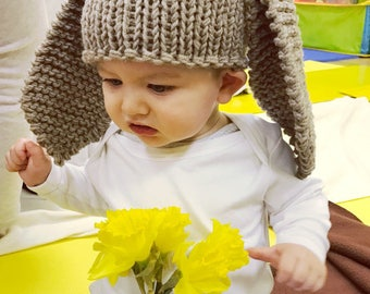 Grey bunny ears prop, easter bunny hat, animal hat, grey bunny hat, newborn baby hat, newborn photography props, newborn hat, newborn props