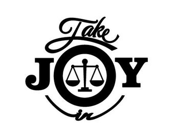 Take Joy In Attorney Decal