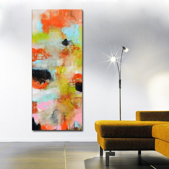 abstract painting orange red blue painting orange and blue. Black Bedroom Furniture Sets. Home Design Ideas