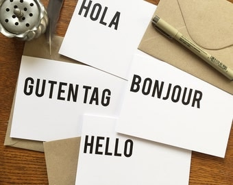 Hello There - Text Cards - Greeting Card - Stationery