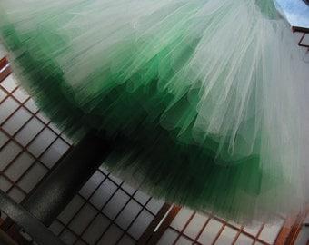 Tulle Skirt Shades of Green -- Custom Order