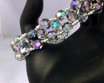 Girls Night Out v3 Big n Bold style Beadwoven Bracelet,handmade