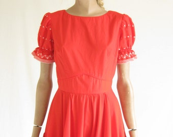 Vintage 60's Square Dancing  Dress. Size Small
