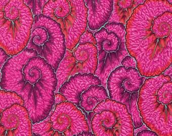 Kaffe Fassett Flowers Curlique Pink Philip Jacobs Fabric 1 yard