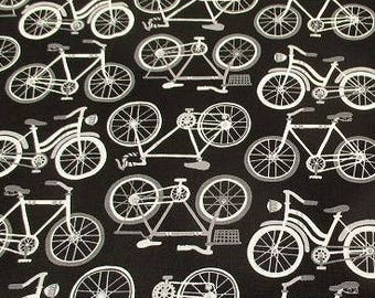 One Yard  Cotton Fabric Andover Bikes Bicycles 2 colors to choose