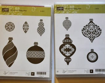 Ornament Keepsakes Stampin' Up! Stamp Set of 9 Stamps - New In Package