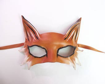 Little Fox Leather Mask a smaller and very light version of my bigger Fox masks great for smaller and average adult size