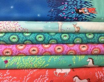 6 FQ Wee Wonder Bundle, Sarah Jane Wee Wonder for Michael Miller Birds & The Bees Collection Fabric