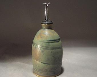 Handmade Stoneware Olive Oil / Vinegar Bottle or Cruet
