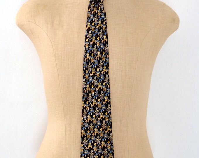 Amazing SAMURAI Print Tie by Spanish DESIGNER LOEWE