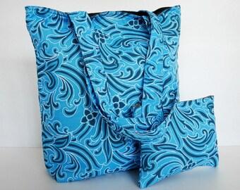 One of a kind printed tote, carry all, shoulder bag, laptop bag, school bag, project bag, women