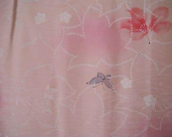 Vintage haori S633, pink, shibori type