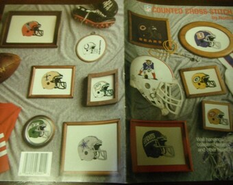 Sports Counted Cross Stitch Team NFL Nomis Volume 401 Cross Stitching Pattern Leaflet