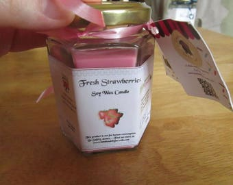 Fresh Strawberries Scented Soy Wax Candle 300g