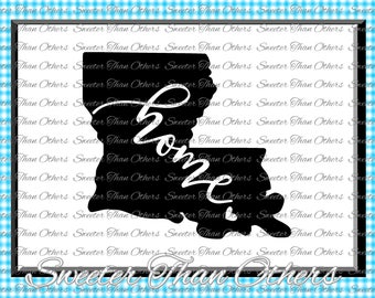 Louisiana home SVG T shirt Design Vinyl  Louisiana SVG and DXF Files Electronic Cutting Machines, Silhouette Cameo, Cricut, Instant Download