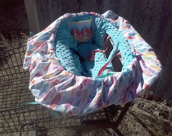 Shopping Cart Cover Tribal Aztec Feather READY TO SHIP