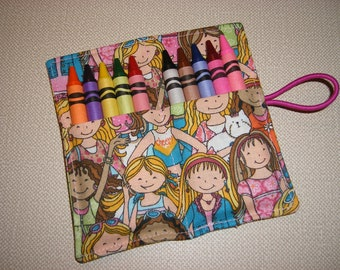 Crayon Rolls . Party Favor . Girls