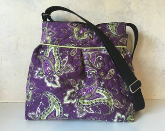 Purple Floral Quilted purse