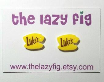 Luke's Diner - Gilmore Girls - stud earrings