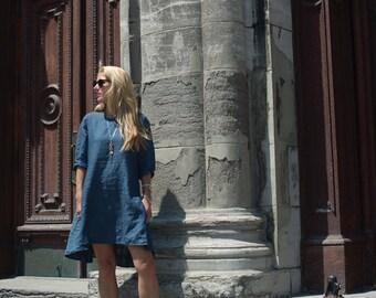 Linen Frock Dress
