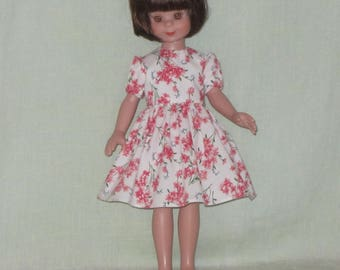 Betsy McCall 14 inch Doll Dress Apricot Flowers