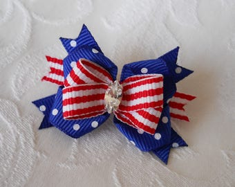 Dog Bows- 4th Of July Boutique Dog Bow