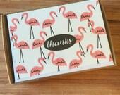 Flamingo Thanks - Boxed Stationery Set