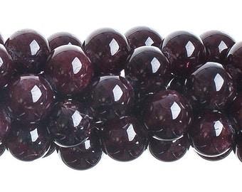 10 Pieces Natural Semi Precious Garnet Stone - Round (616)