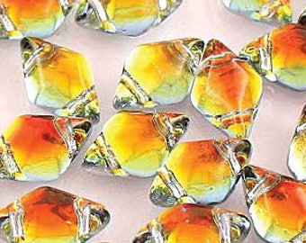 GemDuo (Matubo) 2-Hole Bead 5x8MM Backlit Tequila GD8500030-28002- Approximately 20 Grams