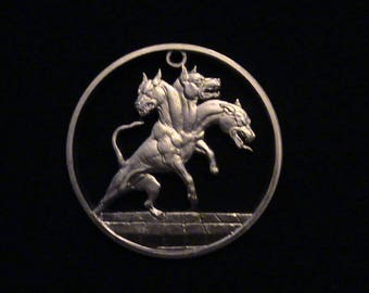 CERBERUS - Third Time Cut! - Hand Cut From .999 1 oz. Copper Bullion Medallion