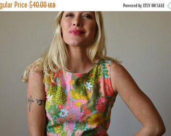 25% OFF SALE 1960s Mode O' Day Summer Dress~Size Extra Small to Small