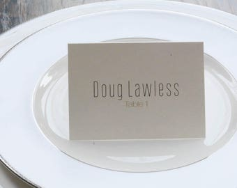 Modern Place Cards | Simple Escort Cards | Anna & Paul