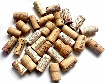 30 Wine Corks, Wine Cork Lot Supply, Used Wine Corks, Crafting Wine Corks, Lot of Thirty Wine Corks, Wine Corks for Crafts, 30 Real Corks