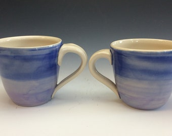 Blue and Lavender Mug