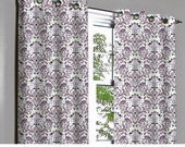 RESERVED for Leanna - 2 Valence Panels Soul Purple & Silver Damask