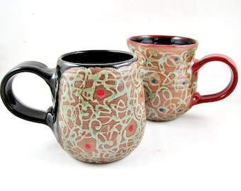 Handmade pottery mug, stoneware ceramic mug, coffee mug - In stock