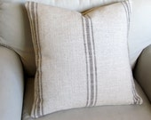 French Laundry  pillow cover BROWN Stripes 20x20
