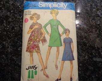 vintage Simplicity 8604 miss petite dress pattern
