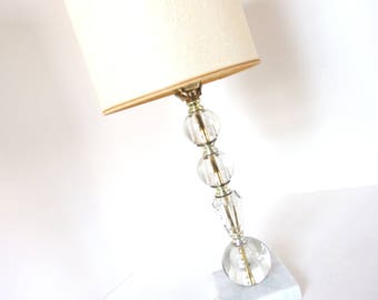 Vintage Glass Bubbles Table Lamp with Shade - 26 Inches