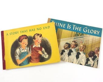 Vintage Mid Century Children's Books - Thine the Glory and A Story That Has No End