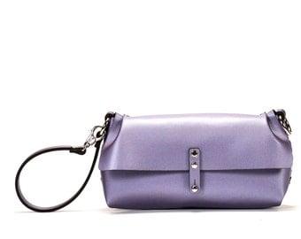Lilac Wristlet | Lilac Wrist Bag | Lilac Clutch | Vegan, Made in USA